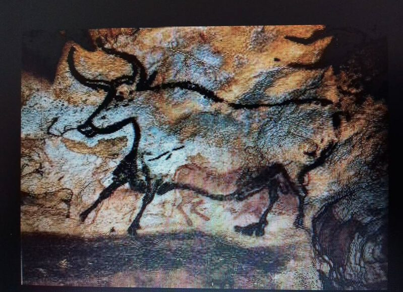 Cave painting at Museum of Prehistory Tulum