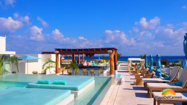 The Palm at Playa pool and bar