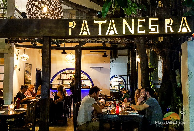 Outside of Patanegra restaurant in Playa del Carmen