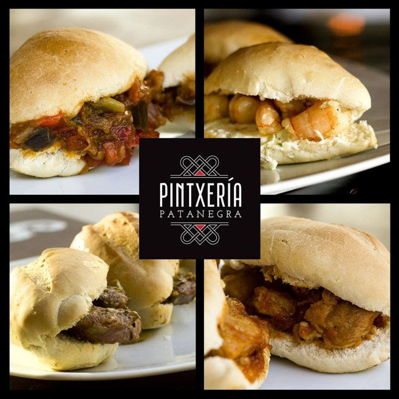4 types of sandwiches at Pintxeria Patanegra restaurant in Playa del Carmen