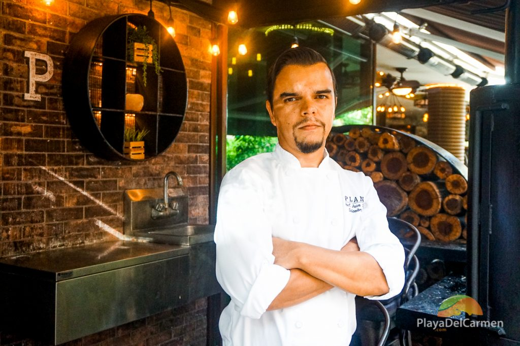Chef Juan Diego Solombrino at Plank Restaurant Playa del Carmen