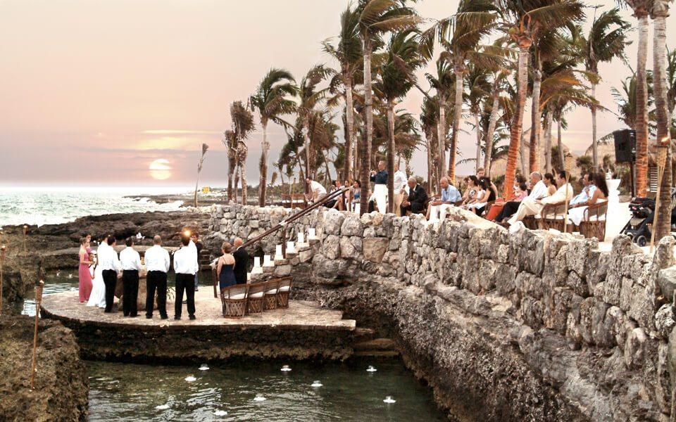 pozas in an xcaret wedding