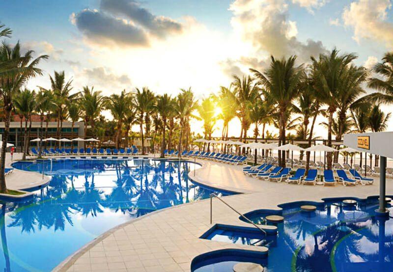 Aerial view Riu Yucatan Playa del Carmen