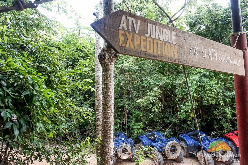 ATV jungle expedition sign