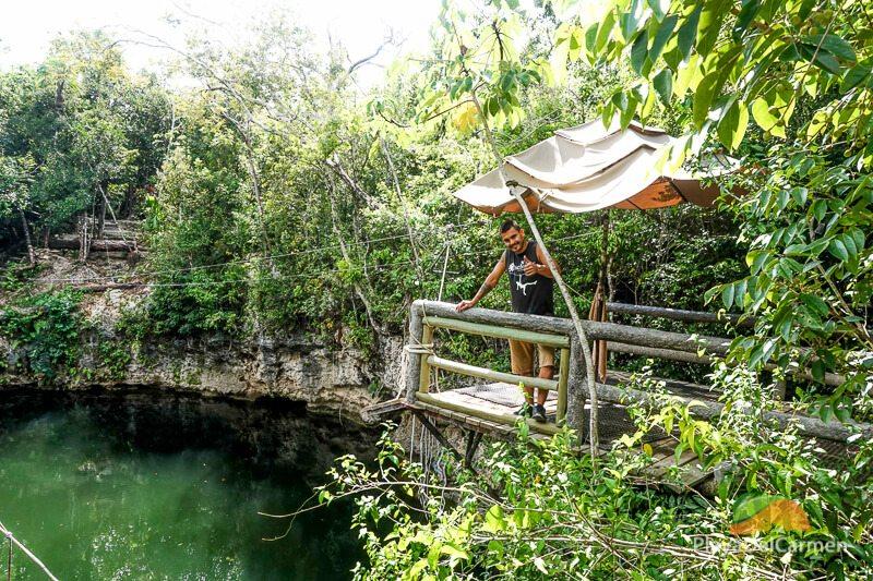 zIp lining at selvatica, cancun