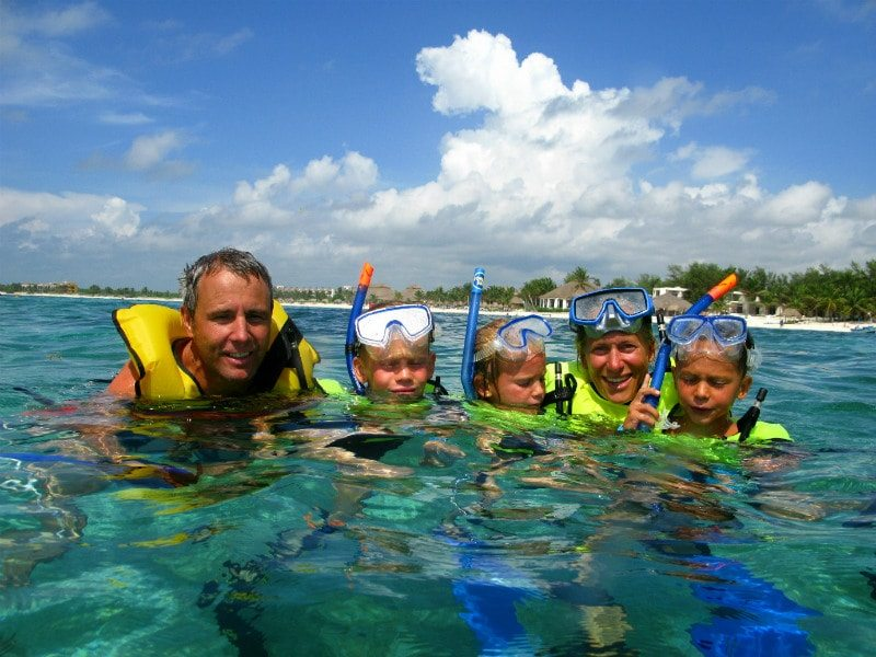 Family snorkel tour Playa del Carmen