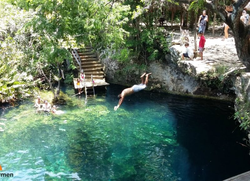 swimming cenote playa del carmen