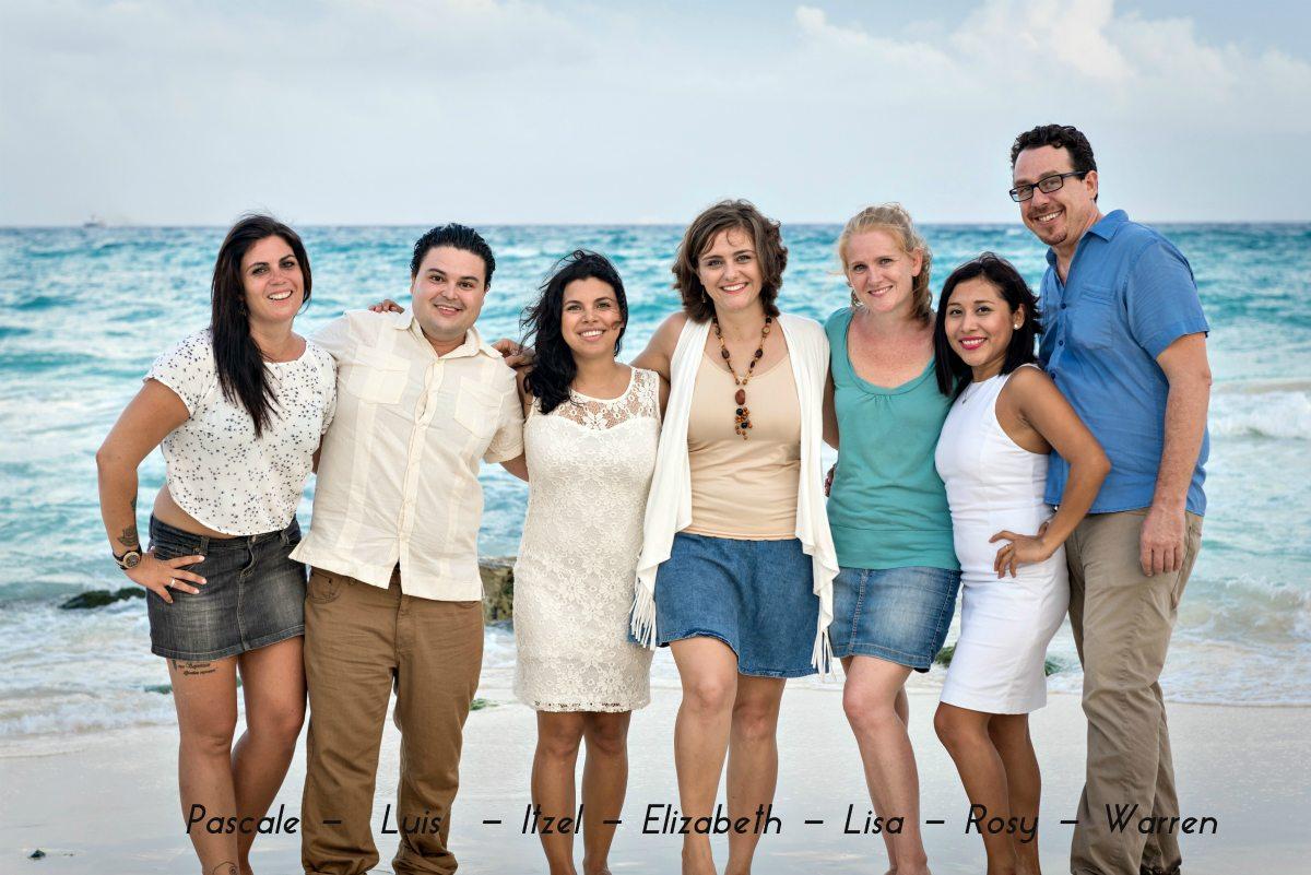 Jasmin & Matt - Playa del Carmen Team Photo Shoot