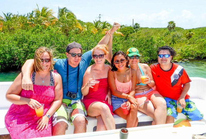 Playa del Carmen team on a private yacht tour
