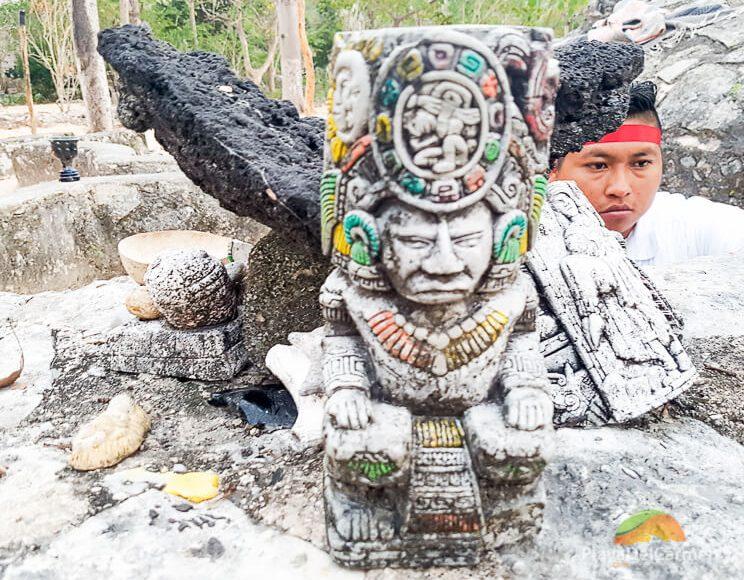 Temazcal altar ceremony