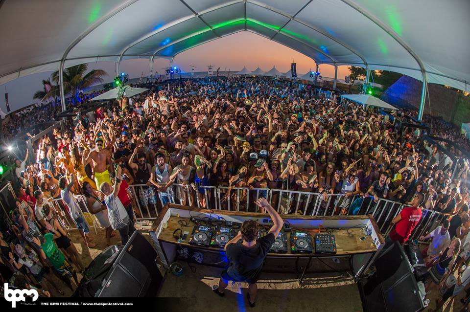 People partying at bpm festival