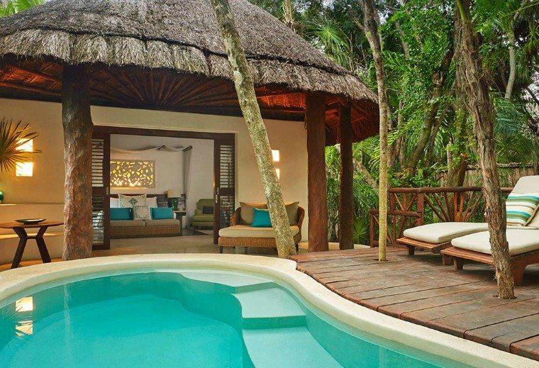 Pool view at Viceroy Riviera Maya