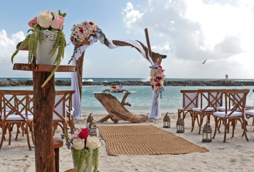 beach wedding at hard rock hotel riviera maya
