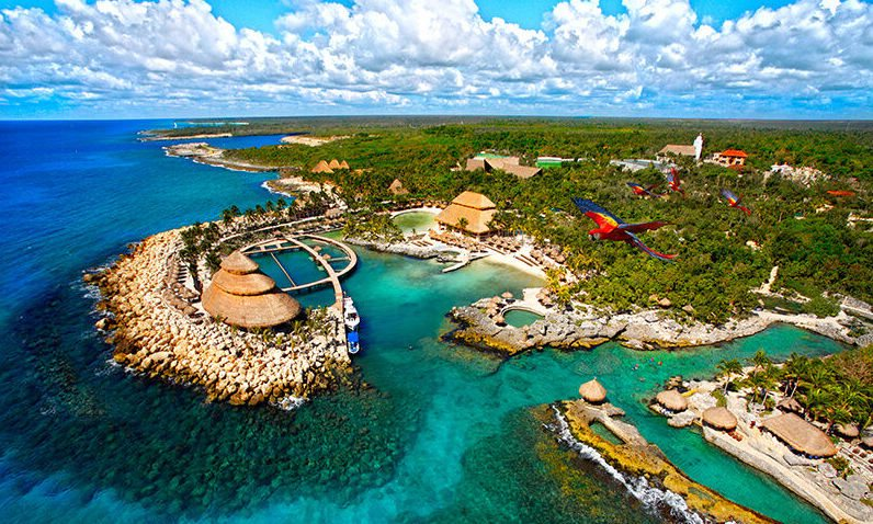 Aerial view of xcaret park