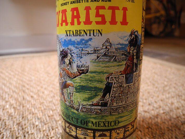 Bottle of D'Aristi Xtabentun Honey Liquor