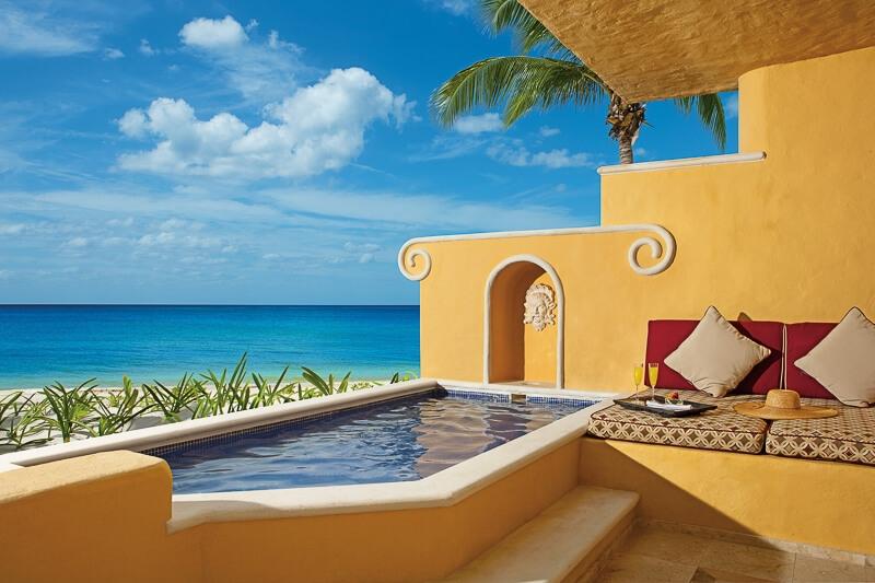 Zoetry Paraiso Riviera Maya oceanview balcony