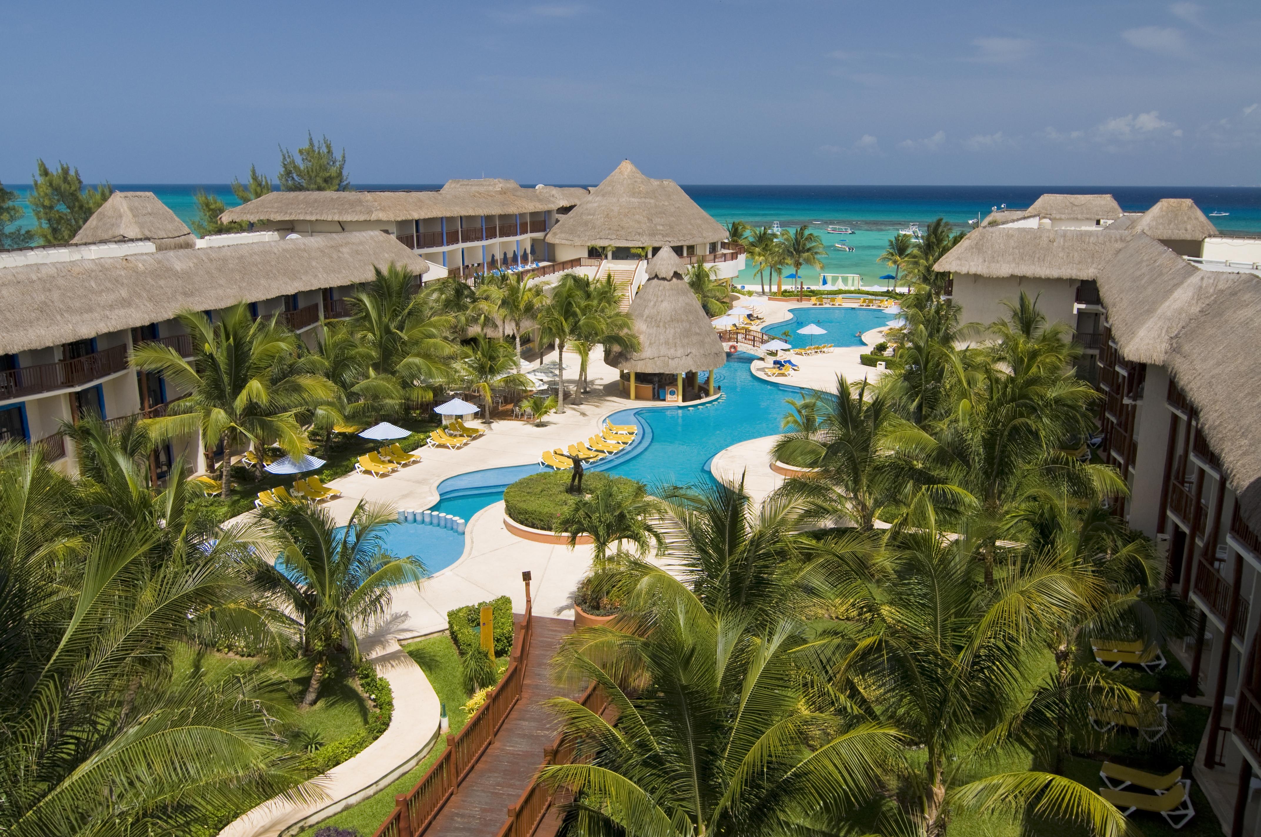 The Reef Coco Beach aerial view