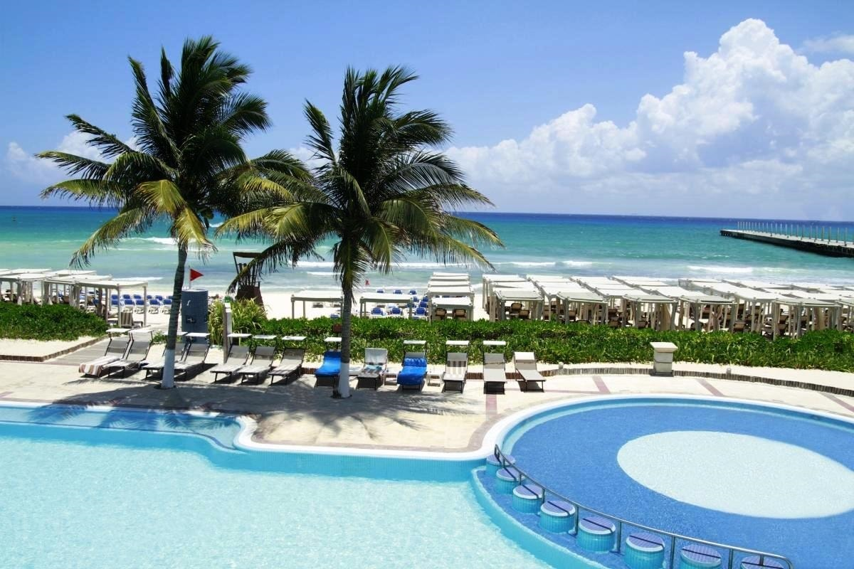 The Royal Playa Del Carmen pool and beach view