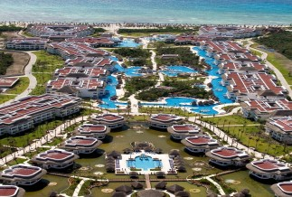 Aerial View of the Sunet and Riviera Princess Hotels