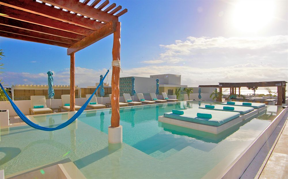 Rooftop pool area at The Palm at Playa