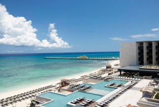 Aerial view of Grand Hyatt Playa del Carmen