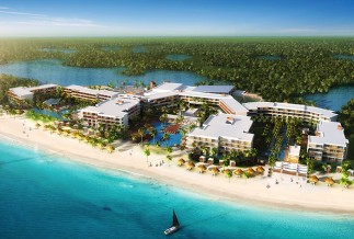 Breathless Riviera Cancun aerial view